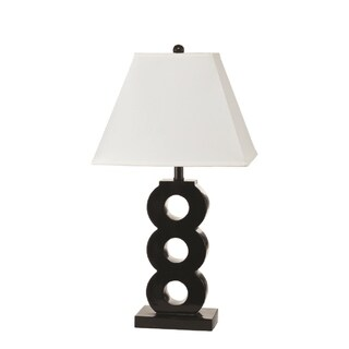 Nova Black Metal Geometric Table Lamp (Set of 2)