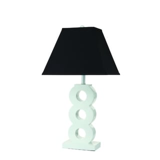 White Base with Black Shade Table Lamp (2 Lamps Per Box)