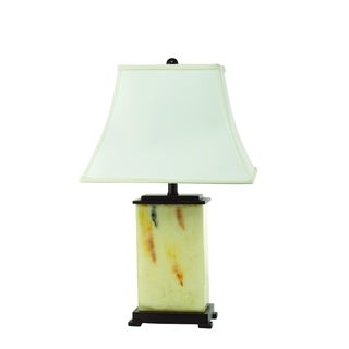 Tan Glass Rectangle Table Lamp (2 Lamps Per Box)