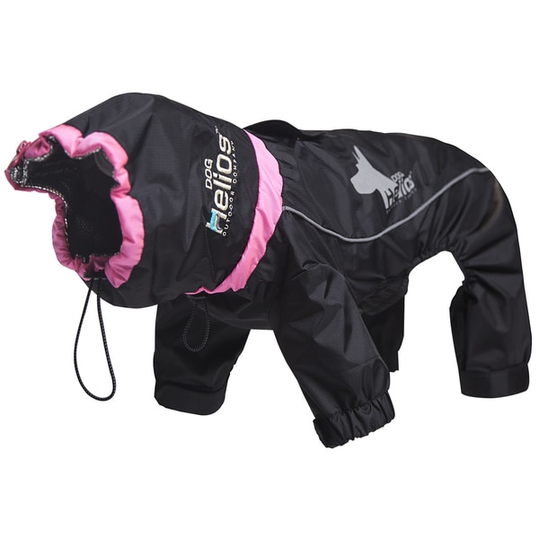 Helios Weather-King Blue/Red/Black Polyester Ultimate Windproof Full-bodied Pet Jacket