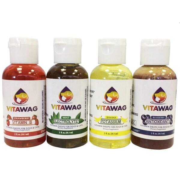 Pet Life Vitawag 2-ounce All Natural Dog and Cat Liquid Vitamin Supplements