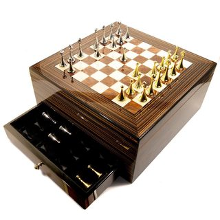 Cuban Crafters Maestro 75-cigar Humidor with Chess Board Top