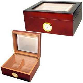 Cuban Crafters Mio 40-cigar Glass-top Humidor