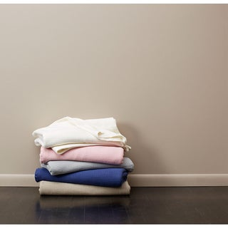 Tuscany Beige, Blue, Grey, Pink, Tan, White Cotton Blanket