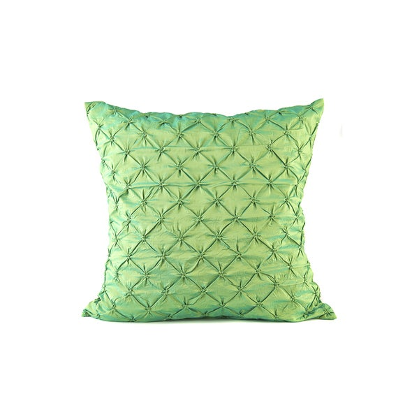 Ruched Green Euro Sham