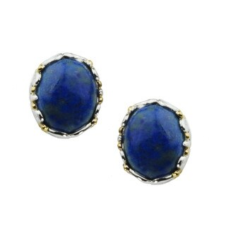 One-of-a-kind Michael Valitutti Oval Cabochon Lapis Lazuli Stud Earrings