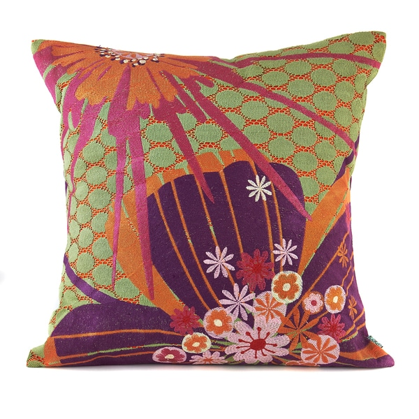 Floral Aubergine Decorative Pillow