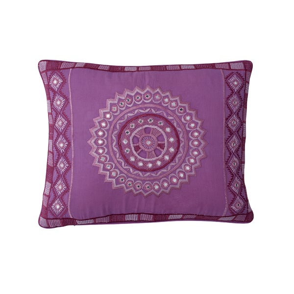Stephanotis Lilac Cotton Pillow