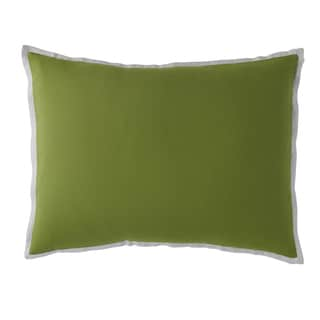 Kona Green and SIlver Cotton and Linen Standard Sham