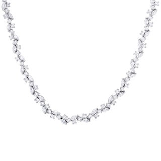 Samantha Stone Sterling Silver Scattered Cubic Zirconia Necklace