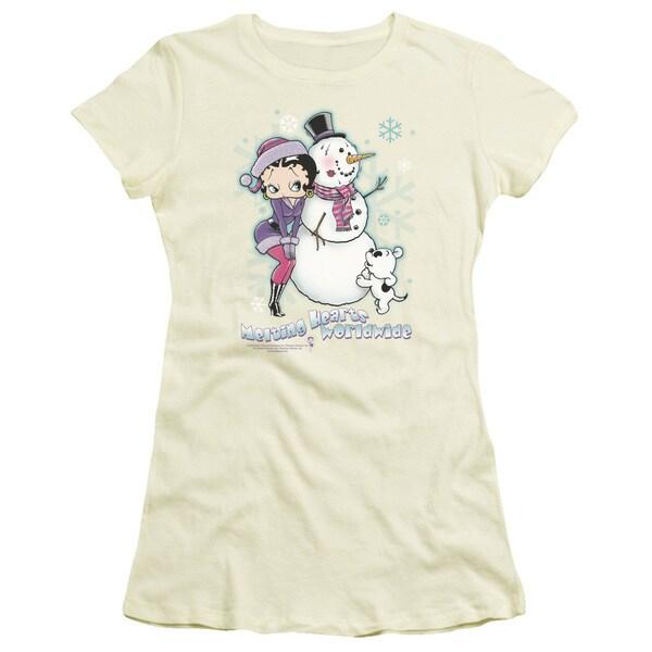 Boop/Melting Hearts Junior Sheer in Cream