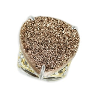 Michael Valitutti Pearshaped Rose Druzy Ring