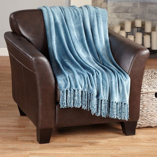 Home Fashion Designs Raya Collection Ultra Plush Fringed Throw