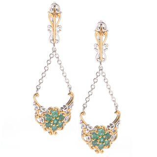 Michael Valitutti Emerald Dangling Earrings