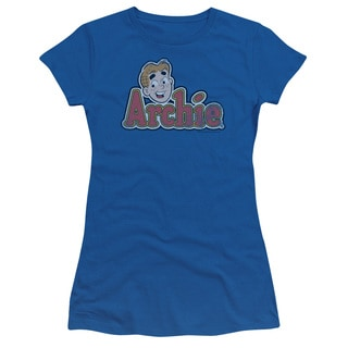 Archie Comics/Distressed Archie Logo Junior Sheer in Royal