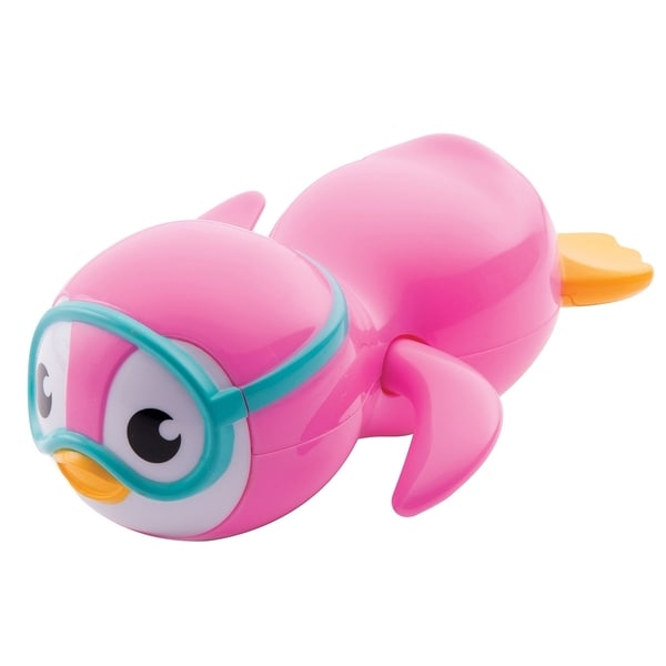Munchkin Pink Wind-up Swimming Penguin