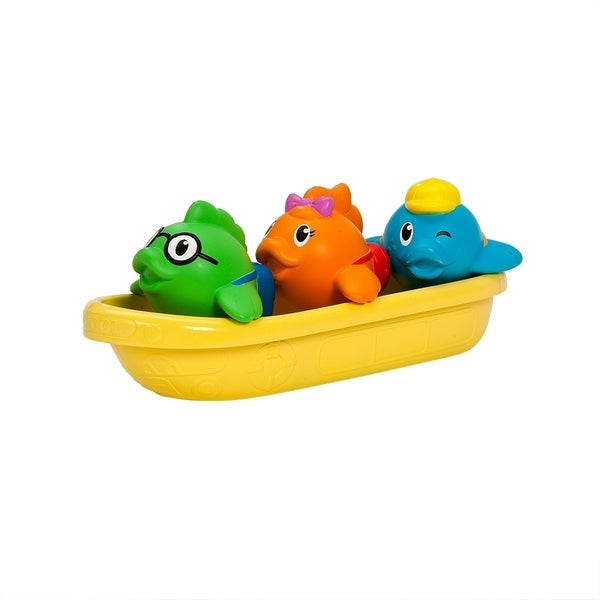 Munchkin Multi-color Plastic School of Fish Bath Toy 18847425