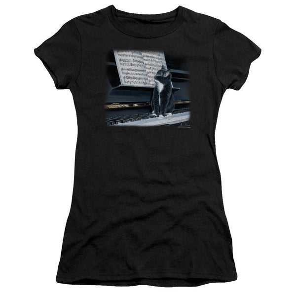 Wildlife/Kitten On The Keys Junior Sheer in Black