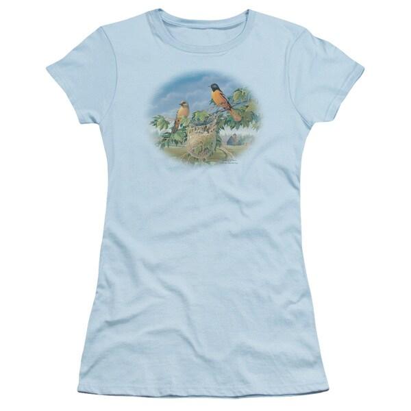 Wildlife/Orioles and Farm Junior Sheer in Light Blue