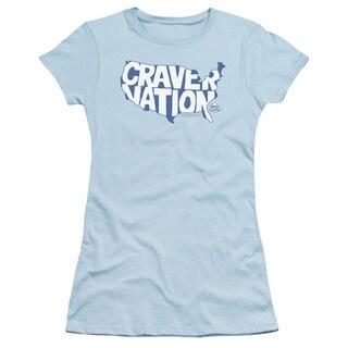 White Castle/Craver Nation Junior Sheer in Light Blue