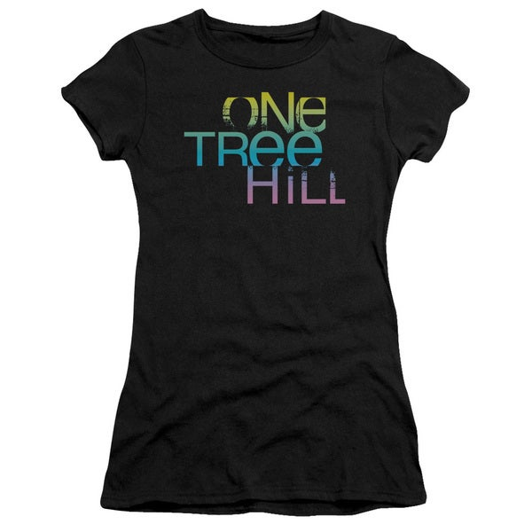 One Tree Hill/Color Blend Logo Junior Sheer in Black