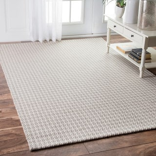 nuLOOM Contemporary Casual Houndstooth Grey Rug (7'6 x 9'6)