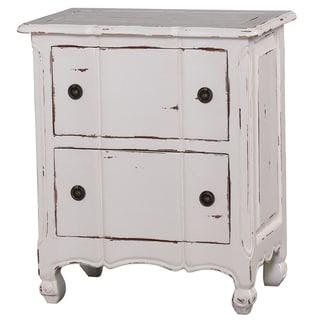 Bramble Co. Provence 2-drawer White Distressed Mahogany Nightstand