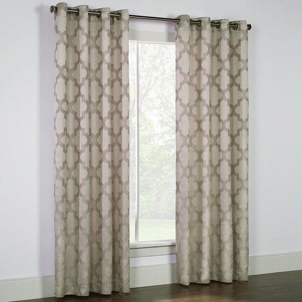 Lisbon Morrocan Jacquard Curtain Panel
