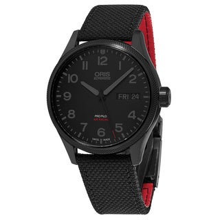 Oris Men's 01 752 7698 4784 'Air Racing' Black Dial Black Textile Strap Day Date Swiss Automatic Watch