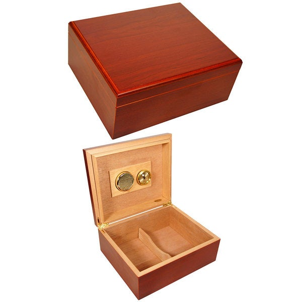 Cuban Crafters Mio Cherry Wood 40-cigar Starter Humidor