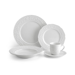 Mikasa American Countryside White Stoneware 5-piece Place Setting