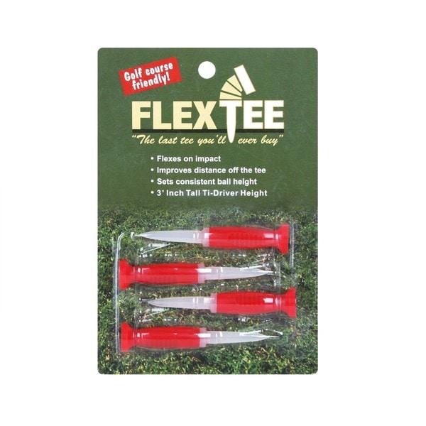 Flex Tee Red Plastic Flexible Golf Tees (Set of 4)