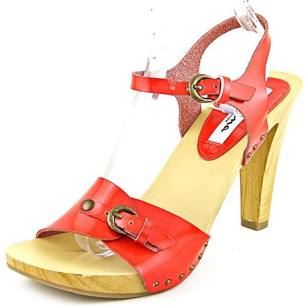 Nina Women's Saffire Red Patent Leather Sandals
