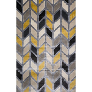 Christopher Knight Home Vita Parish Silver Chevron Rug (8' x 10')