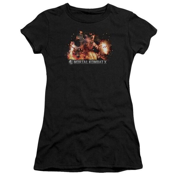 Mortal Kombat X/Scorpio Flames Junior Sheer in Black