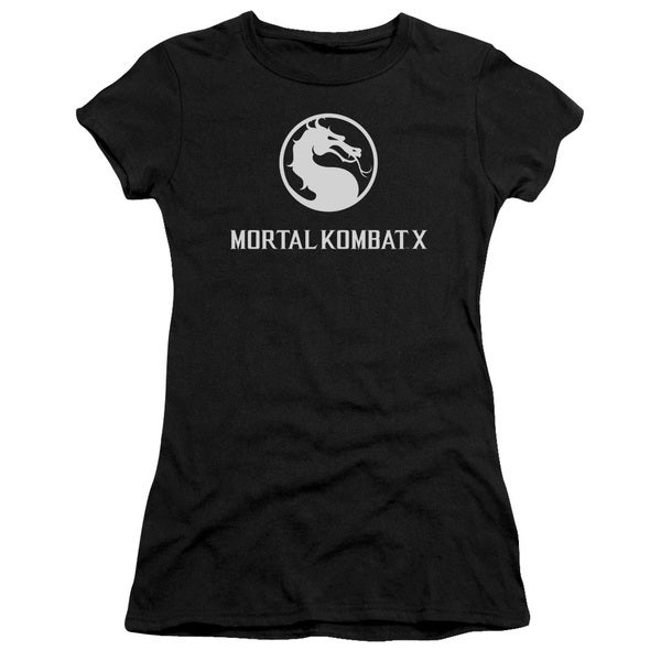 Mortal Kombat X/Dragon Logo Junior Sheer in Black