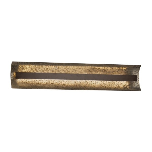 Justice Design Group Fusion Contour 29 inch Linear LED Bronze Bath Bar, Mercury Glass
