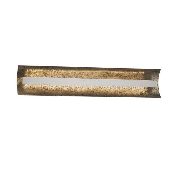 Justice Design Group Fusion Contour 29 inch Linear LED Chrome Bath Bar, Mercury Glass