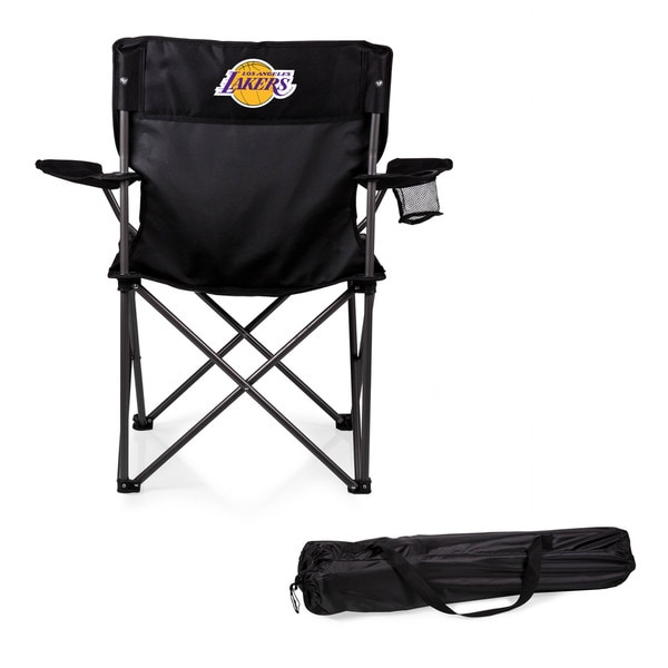 Picnic Time Los Angeles Lakers PTZ Black Polyester/Metal Camp Chair 18850940