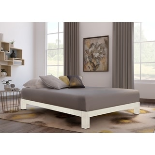 Motif Design Aura White Platform bed