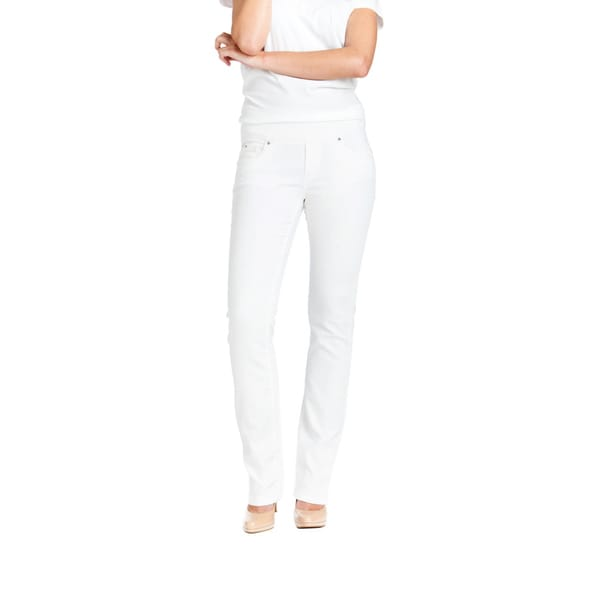 Bluberry Women's White Straight Leg Denim