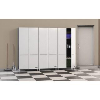 Ulti-MATE Grey/Off-white Aluminum/Laminate/PVC 3-piece Wall Organizer