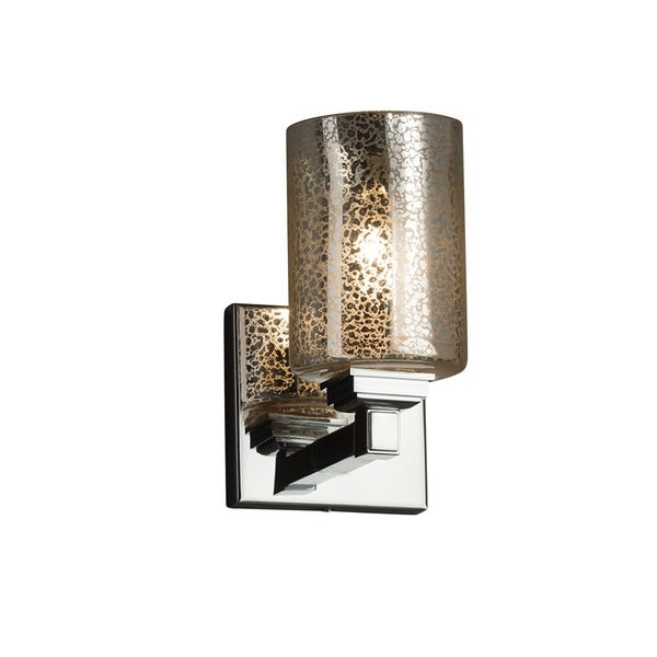 Justice Design Group Fusion Regency Chrome Wall Sconce, Mercury Glass