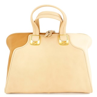 Fendi Beige Leather Women's Shoulder Bag