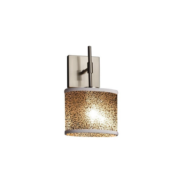 Justice Design Group Fusion Union Oval ADA Nickel Wall Sconce, Mercury Glass