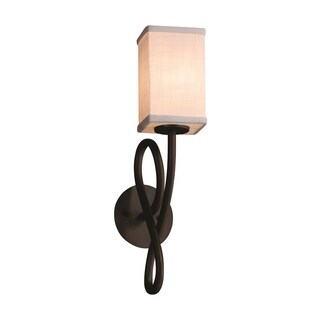 Justice Design Group Textile Capellini Bronze Wall Sconce
