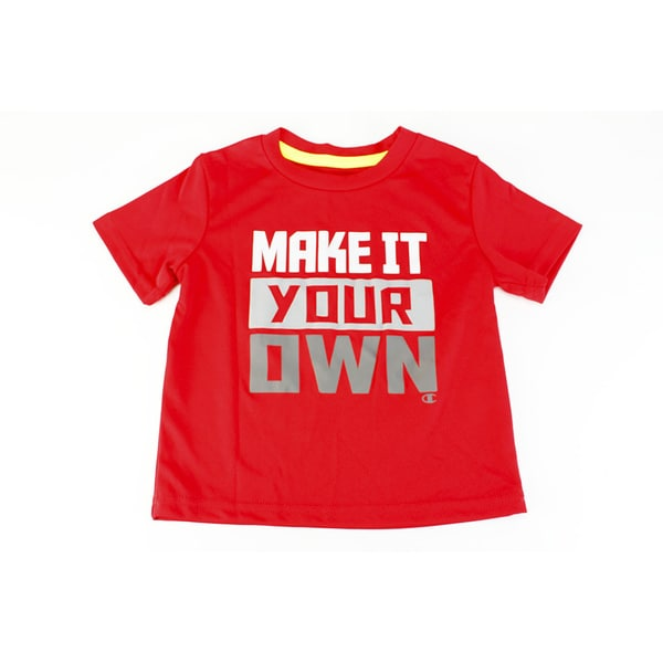Champion Boys' Red Polyester Size 2T US Baby Short-sleeve Top