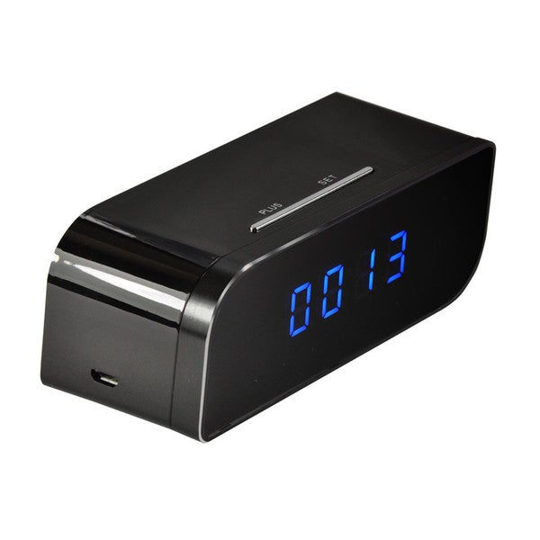 iPM Wifi-enabled Battery-powered Desk Clock With 720p Hidden Camera