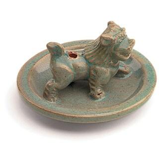 Handcrafted Ceramic Snow Lion Incense Holder (Nepal)