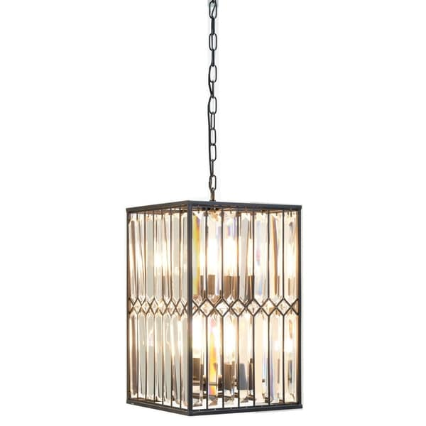 Kosas Home Manson Iron/Crystal 13-inch Chandelier